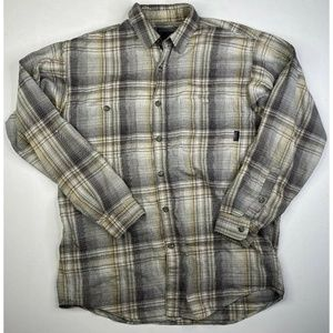 Patagonia Shirts - Patagonia Gray Soft Organic Plaid Button Shirt